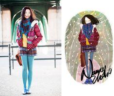 Nancy Zhang - Lee Jacket, A.P.C. Shorts - Urban stories.
