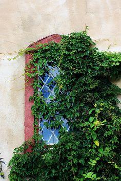 Castle window, Hammond Castle, Gloucester, Massachusetts