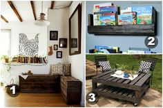 DIY Pallet Projects | Find some quiet time with one of these projects. 1.) Pallet Bench and ...