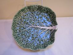 Bordalo Bordallo Pinheiro Majolica Portugal Cabbage Leaf  Dish Plate Bowl