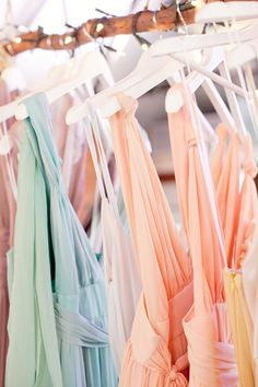 Party frocks in summer pastels! Pastel Shades, Pastel Colors, Colours, Vestidos Color Pastel, Pastel Bridesmaid Dresses, Pastel Dresses, Flowy Dresses, Bride Dresses, Summer Dresses