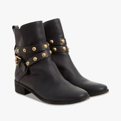 Bottines en cuir clout�es bicolores - SEE BY CHLOE - Find this product on Bon March� website - Le Bon March� Rive Gauche