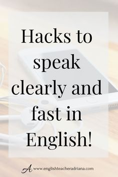 How can I speak and think English? : Speak and think fast in English using these tips. Click the link below to learn how English Speaking Practice, Advanced English Vocabulary, Learn English Grammar, Learn English Words, English Language Learning, Teaching English, Public Speaking, Speak English Fluently, English Sentences