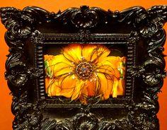 FREE SHIPPING: Designer Couture Multi Colored Orange Feather Rhinestone Brooch Embellished Garter. $29.99, via Etsy.