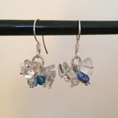 Sterling Silver Earrings with Beads - ONE OF A KIND