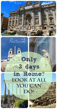 Three Days in Rome? Look at All You Can Do! You can do a lot in only three days in Rome! Want to see how I fit in a lot of incredible experiences?You can do a lot in only three days in Rome! Want to see how I fit in a lot of incredible experiences? European Vacation, Italy Vacation, European Travel, Italy Trip, Rome Travel, Travel Abroad, Italy Travel, Oh The Places You'll Go, Places To Travel