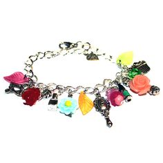 Beauty Salon - Stylist Charm Bracelet - Gift idea - For her - For woman - Charms Bracelet - Present for a hair stylist - Colorful