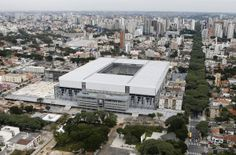 Arena de Baixada, Curitiba. My favourite because of it's box-like appearance.