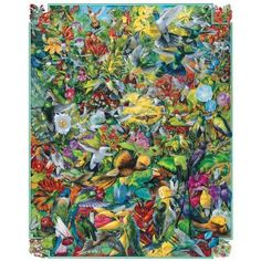 Artist: Ernest O. Brown With all these hummingbirds flocking to this one garden, the flowers must have the sweetest nectar around! Think you can find all the birds? They're hiding everywhere! White Mountain Puzzles Inc. is proud to manufacture their products here in the USA and call Jackson Village, NH – in the heart of the actual White Mountains – their home. Their puzzles are now printed on blue chip board; a thicker and more high quality material. This adds a comfortable heft to the pi...