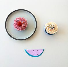 cute cupcake face - coco cake land