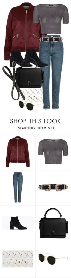 """""""Untitled #9719"""" by nikka-phillips ❤ liked on Polyvore featuring River Island, Topshop, B-Low the Belt, Zara, Carven, ASOS Curve, Ray-Ban and Red Herring"""