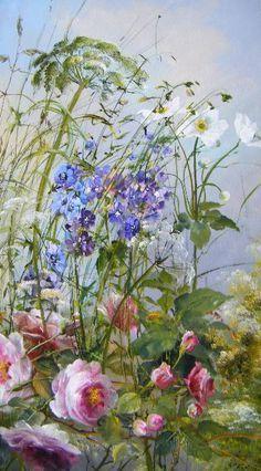 ❀ Blooming Brushwork ❀ - garden and still life flower paintings - Sylvie Fortin