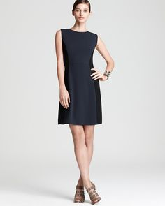 DKNY Color Block Sleeveless Dress | Bloomingdale's