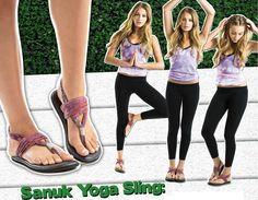 Sandália flexível para o verão.