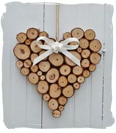 similar to large rustic heart wedding log cabin decoration on etsy - Lovely heart! -Items similar to large rustic heart wedding log cabin decoration on etsy - Lovely heart! Wood Slice Crafts, Wooden Crafts, Diy And Crafts, Driftwood Crafts, Christmas Crafts, Christmas Decorations, Beach Christmas, Prim Christmas, Christmas Animals
