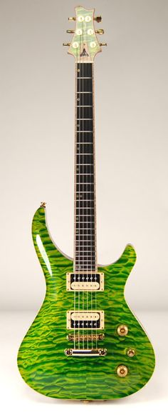 McNaught Custom Shop Phoenix Rising Double Cutaway in Reptile Finish