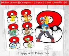 Pokemon GO Number 8 Centerpieces Pokeballs Centerpieces