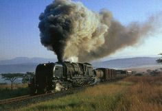 old railroad trains of south africa in photos | Steam Trains in South Africa. Postcards. Vidrail