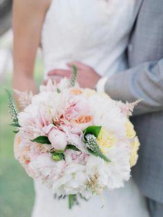 Pastel Wedding Bouquet - Laura Murray Photography