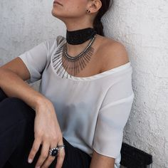 #jewelsoftheday 💎 sitara choker in onyx + asha tribal necklace. available now ✨  stickstonestyle.com #bohemian #boho #stickstoneslifestyle #stickstones #gypsy #jewelry #statementjewelry #bracelets #cuffs #rings #leatherbackpack #bohemianstyle #goddess #designer #handcrafted #handmade #premiumboho #premiumjewelry #festivalstyle #musicfestival #festivaloutfit