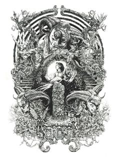 Self-taught illustrator and designer DZO is a French artist that have become known for his intricate monochromatic art that often contains occult, religious and mythological elements. With just the…