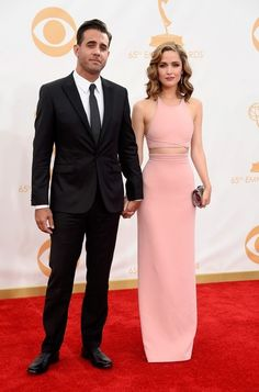 Rose Byrne and Bobby Cannavale because unf.   Who Wore What To The 2013 Emmy Awards?