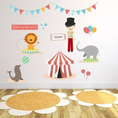 Are you interested in our Circus Fabric Wall Stickers? With our nursery childrens room wall stickers you need look no further. Circus Room, Circus Baby, Circus Theme, Baby Boy Rooms, Baby Room, Nursery Themes, Nursery Ideas, Room Ideas, Kids Room Wall Stickers