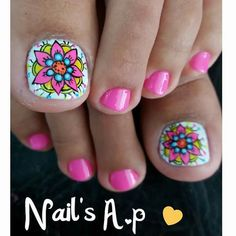 Mandalas Pretty Toe Nails, Cute Toe Nails, Love Nails, Sexy Nail Art, Cute Nail Art, Karma Nails, Hello Nails, Feet Nail Design, Toenail Art Designs