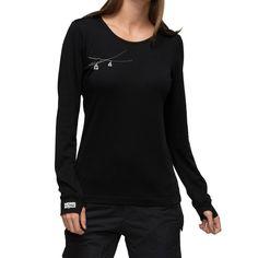 Mons Royale Original Longsleeve Langarm Shirt Damen *schwarz*