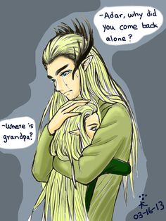 Thranduil and Legolas after the Last Alliance - So heartbreaking!