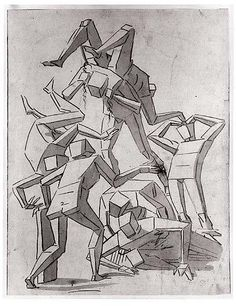 Figure Study by Luca Cambiaso, 1527-85.  Using cubes/geometry to find perspective in drawing human figure.  Too Cool, for so long ago....