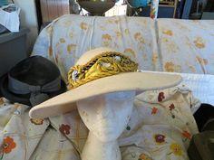 vintage Designer Ladys wide brim church Hat Sonni of California