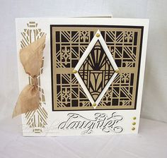 Blog tonic: Pick of the Week - Collectables - Art Deco - Daughter card from Edna