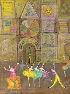 lllustration for Children's Games | Tales from the Ballet by Louis Untermeyer, Illustrated by Alice and Martin Provensen