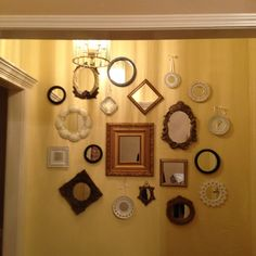 My entryway of mirrors