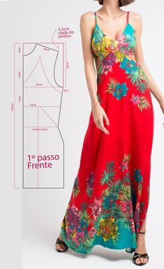 Exel Rondon's media content and analytics Dress Sewing Patterns, Sewing Patterns Free, Sewing Tutorials, Clothing Patterns, Sewing Clothes, Diy Clothes, Nice Dresses, Summer Dresses, Creation Couture