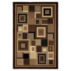 Found it at Wayfair - Catalina Black & Brown Area Rug