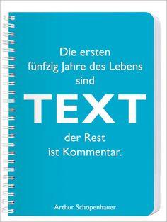 Notizblock A5 Schopenhauer Text - Geschenkeshop | Deko-Geschenke | Accessoires fürs Wohnen - Cedon