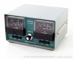 HEATHKIT HM-2140 PEAK READING 1.8-30 MHz DUAL WATTMETER HAM RADIO SWR PEP WORKS  #heathkit
