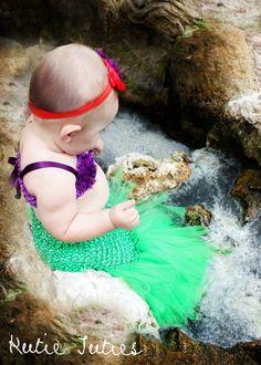 The Little Mermaid Tutu dress crochet top with by KutieTuties, $45.00