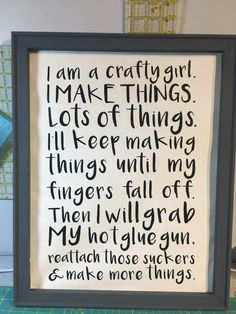 So true glue um back on and keep creating!