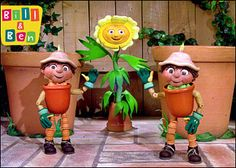 Bill and Ben.the flower pot men. (Can hear the theme tune!) This was always on when I was off school poorly. I remember once me and my brother were both off school and we watched this, laughing at it. My Mum used to watch this as a child too, in the Childhood Tv Shows, 90s Childhood, My Childhood Memories, Kids Tv Shows, 90s Nostalgia, Weird And Wonderful, Wonderful Things, 90s Kids, Old Tv