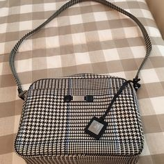Ralph Lauren New Without Tags Shoulder bag Brand new bag by Ralph Lauren ; houndstooth plaid, black and beige , with a hint of light blue Ralph Lauren Bags Shoulder Bags