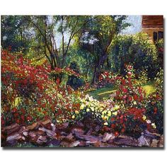Trademark Art Evening Roses Canvas Wall Art by David Lloyd Glover, Size: 35 x 47, Multicolor