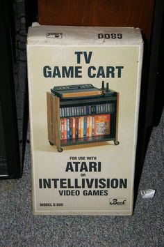 My kind of TV cart! #Atari