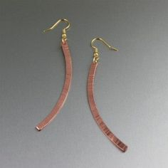 Exceptional Chased Copper Drop Earrings Showcased on #Etsy #Copper #CopperEarrings https://www.etsy.com/listing/168865401/chased-copper-drop-earrings-makes-a