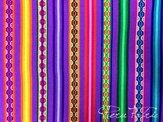 PERU FABRIC Bright Sky Blue Stripe by Yard ,mexican fabric, textile fabric, Fabric Home ,Jacquard fa Mexican Fabric, Mexican Textiles, Mexican Art, Bohemian Fabric, Tribal Fabric, Peruvian Textiles, Bead Loom Bracelets, Fabric Suppliers, Textile Fabrics