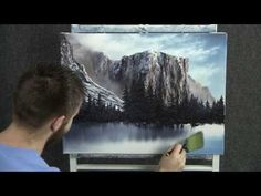 ▶ Paint with Kevin Hill - Winter in Yosemite National Park - YouTube