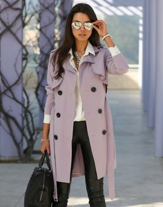 Lavender trench