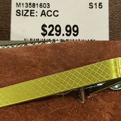 Gold Tie Clip, Diamond Pattern